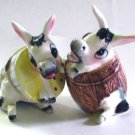 Donkey in Barrell Salt & Pepper Shakers