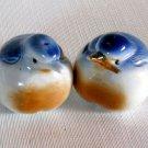 Puffed Up Blue Birds Salt & Pepper Shakers