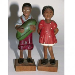 Black Americana hand-carved figurines