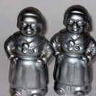 Black Americana Silver Dipped Housemaids Salt & Pepper Shaker