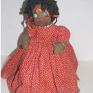 Black Americana Vintage Little Girl Weighted Doorstop