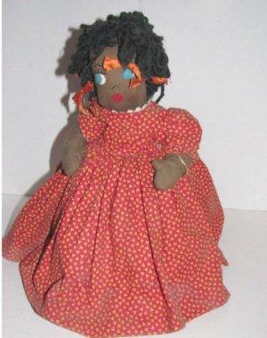 Black Americana Vintage Little Girl Weighted Doorstop