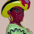African American / Island Woman Chalkware Plaque