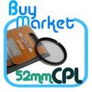 SALE 52mm Circular Polarizing CPL filter for DSLR Lens
