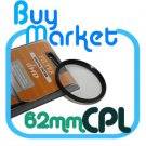 SALE 62mm Circular Polarizing CPL filter for DSLR Lens