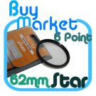 NEW 62mm Star Effect Filter Cross 6 Point 6pt for Lens
