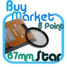 NEW 67mm Star Effect Filter Cross 8 Point 8pt for Lens