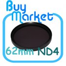 NEW 62mm ND4 Filter Neutral Density ND 4 for DSLR DC Camera Lens