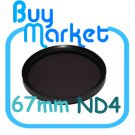 NEW 67mm ND4 Filter Neutral Density ND 4 for DSLR DC Camera Lens