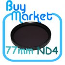 NEW 77mm ND4 Filter Neutral Density ND 4 for DSLR DC Camera Lens