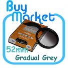 NEW 52mm Graduated Gradual Grey Color filter for DSLR lens