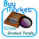 NEW 52mm Graduated Gradual Pruple Color filter for DSLR lens