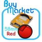 NEW 58mm Full RED Color Effect filter for DSLR DC lens Nikon Canon Sony 58 mm