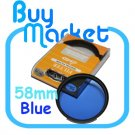 NEW 58mm Full BLUE Color Effect filter for DSLR DC lens Nikon Canon Sony 58 mm