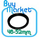 Adapter Filter Lens Step Up Ring 46-52mm 46mm to 52mm