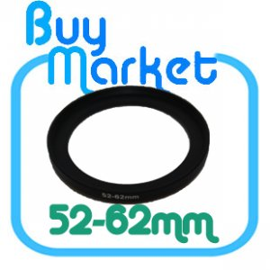 Adapter Filter Lens Step Up Ring 52-62mm 52mm to 62mm