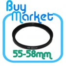 Adapter Filter Lens Step Up Ring 55-58mm 55mm to 58mm