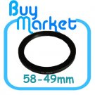 Adapter Filter Lens Step Down Ring 58-49mm 58mm to 49mm