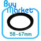 Adapter Filter Lens Step Up Ring 58-67mm 58mm to 67mm