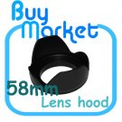 New 58mm Flower Lens Hood for Canon Nikon Sony Pentax Panasonic DSLR DC 58 mm