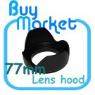 New 77mm Flower Lens Hood for Canon Nikon Sony Pentax Panasonic DSLR DC 77 mm
