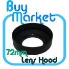 New 72mm Collapsible 3-in-1 Rubber Lens Hood for 72 mm