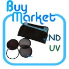 New 67mm ND2+ND4+ND8 + UV Filter ND Kit Set with CASE for DC DSLR Camera Lens (***Free RA)