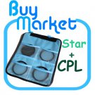 NEW 77MM CPL + 4X 6X 8X STAR FILTER SET with CASE (***Free Registered Airmail)