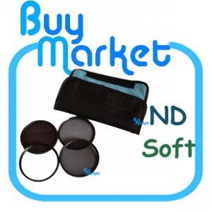 NEW 58mm ND2&acirc; + ND4 + ND8 + Soft Filter ND Kit Set with CASE for DSLR Camera Lens (***Free RA)