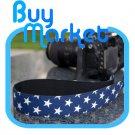 DSLR Canon Nikon Camera Color BLUE STAR Shoulder Neck Belt Strap Grip Straps #26