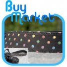 DSLR Canon Nikon Camera Colorful DOTS BLACK Shoulder Neck Belt Strap Grip Straps #27