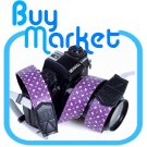 DSLR Canon Nikon Sony Camera Purple Leather Shoulder Neck Belt Strap Grip Straps #21