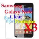 3x LCD Screen Protector Film Guard for Samsung Galaxy Note Ultra Crystal Clear