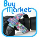 DSLR Camera Oil Painting Colorful flower Shoulder Neck Belt Strap Grip Straps #31