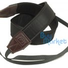 DSLR high quality BLACK leather Camera Shoulder Strap Grip Neck Belt Straps #36