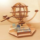 DIY Wooden SATELLITE Solar Powered model Educational toy figure Construction Set