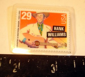 HANK WILLIAMS  STAMP PIN--NEW-COUNTRY MUSIC ICON
