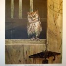 PRINT ART-CHAIRMAN OF THE BOARD--SCREECH OWL-R.J. McDONALD-1972