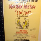 VINTAGE SHEET MUSIC / THEATER FLYER-I DO! I DO! --MARY MARTIN--ROBERT PRESTON