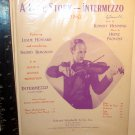 VINTAGE  SHEET MUSIC / MOVIE  1939--INTERMEZZO A LOVE STORY-- LESLIE HOWARD
