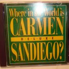 WHERE IN THE WORLD IS CARMEN SAN DIEGO  DELUXE  PC GAME-  UNTESTED-
