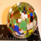 Spatter Glass Paper Weight   Multi-color-AS IS-  GOOD