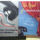 TWO TELEPHONE  PROMOTION AND EDUCATION BOOKLETS ,  VERY NEAT AND CLEAN, QIRK