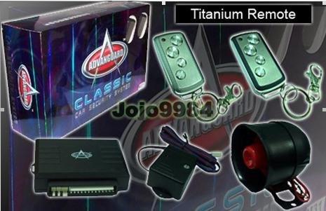 ADVANGUARD M11 TITANIUM SLIDEABLE REMOTE CAR SYSTEM