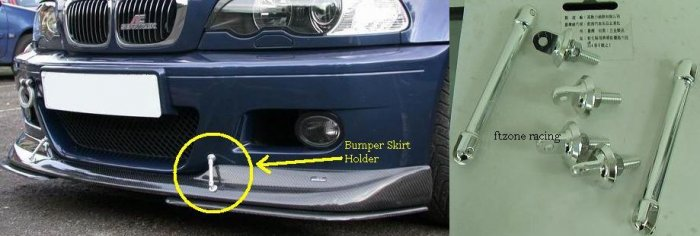 BMW - Look A Like Front Lips Support