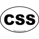 CSS Mini Euro Style Oval Sticker