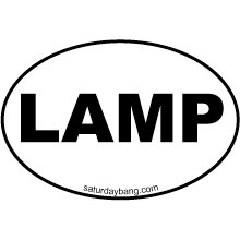 LAMP Stack Mini Euro Style Oval Sticker
