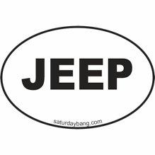 Jeep Mini Euro Style Oval Sticker