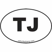 TJ Mini Euro Style Oval Sticker
