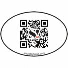 QR Code Mini Euro Style Oval Sticker
